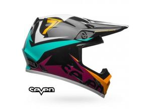 Casco Bell Off-Road Motocross Mx-9 Mips Seven Ignite Negro Aqua