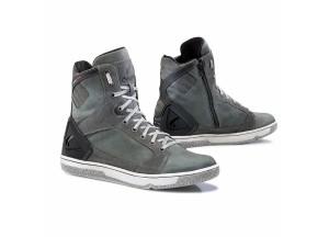 Zapatos Moto Forma Urbana Cuero Impermeable Hyper Antracita