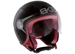 Casco Jet BKR Due Negro Mate