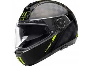 Casco Integral Modular Schuberth C4 Pro Carbon Fusion Amarillo Brillante