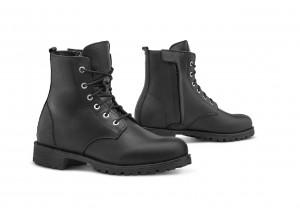 Zapatos Moto Forma Urban Cuero Impermeable Lady CRYSTAL Negro