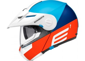 Casco Abatible Off-Road Schuberth E1 Cut Azul Mate