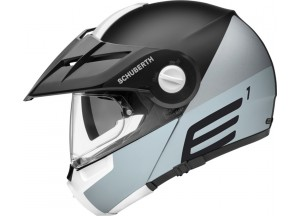Casco Abatible Off-Road Schuberth E1 Cut Gris Mate