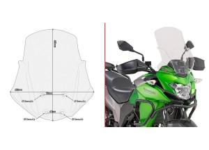 D4121ST - Givi Cúpula específica transparente Kawasaki Versys-X 300 (17 > 18)