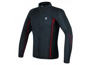 Camiseta Moto Dainese D-Core No-Wind Thermo Tee Ls Negro/Rojo
