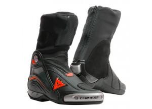Botas de Cuero Dainese Racing Axial D1 Negro Fluo-Rojo