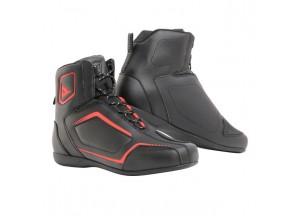 Zapatos de Moto Hombre Dainese RAPTORS Negro/Rojo-Fluo