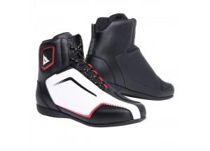 Zapatos de Moto Hombre Dainese RAPTORS AIR Negro/Blanco/Rojo-Lava