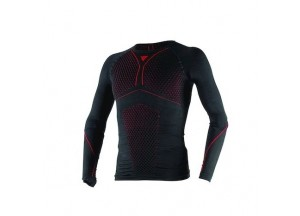 Camisa Técnica Moto Hombre Dainese D-CORE THERMO TEE LS Negro/Rojo