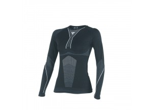 Camisa Técnica Moto Mujer Dainese D-CORE DRY TEE LS LADY Negro/Bianco