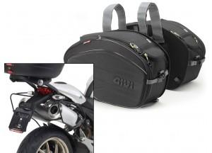 Alforjas Laterales Givi EA100B + Soporte para Ducati Monster (08>14)
