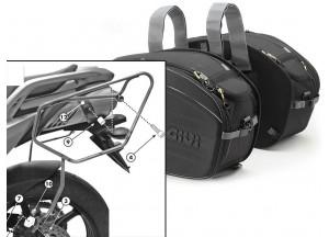 Alforjas Laterales Givi EA100B + Soporte para Yamaha FZ6 S2 / FZ6 600 Fazer S2