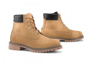 Zapatos Moto Forma Urbana Cuero Impermeable Elite Oro