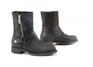 Zapatos Moto Forma Touring Cuero Impermeable Lady Eva Negro