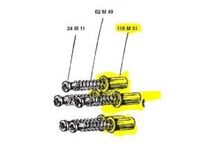 116M31 - Piezas de embrague Surflex Chupito AERMACCHI-HD 350 SS (72-74)