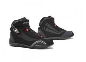 Zapatos Moto Forma Urbana Cuero Impermeable Genesis Negro