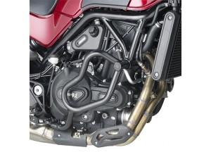 TN8704 - Givi Defensas de motor tubular negro Benelli Leoncino 500 (17)