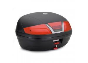 K46N - Kappa Baùl MONOLOCK Negro con catadriópticos rojos 46 Ltr.