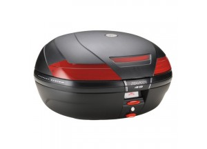 K49N - Kappa Maleta MONOKEY® negra base con catadriópticos rojo 47 Ltr.