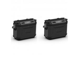 KFR37BPACK2 - Kappa Par de maletas laterales MONOKEY K-FORCE aluminio negro 37Lt
