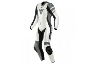 Traje Moto Cuero Mujer Dainese KILLALANE 1 PC LADY Perforado Blanco Negro Gris