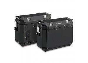 KVE37BPACK2 - Kappa Juego de maletas laterales 37 Lts MONOKEY® K-VENTURE Negro