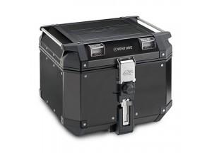 KVE42B - Kappa Maleta MONOKEY® K-VENTURE  en aluminio negro de 1,5 mm 42 L.