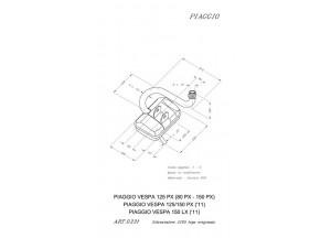 0231 - Silenciador Leovince Sito 2 VESPA 80 PX VESPA 125 PX VESPA 150 PX