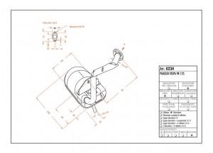 0234 - Silenciador Leovince Sito 2 Tiempos VESPA PK 125
