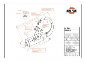 0564 - Silenciador Leovince Sito 2 Tiempos Honda SFX 50