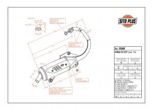0569 - Silenciador Leovince Sito 2 Tiempos Honda SH FIFTY