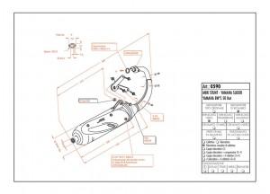 0590 - Silenciador Leovince Sito 2T Yamaha SLIDER BW'S N.G. MBK STUNT