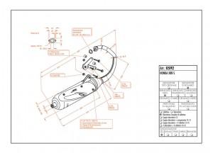 0592 - Silenciador Leovince Sito 2 Tiempos Honda X8R-X 50 X8R-S 50