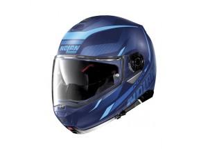 Casco Integral Abierto Nolan N100.5 40 Flat Imperator Azul