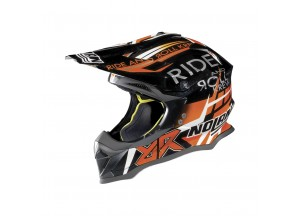 Casco Integrale Off-Road Nolan N53 Gemini Replica 39 M. Bianconcini Metal Negro