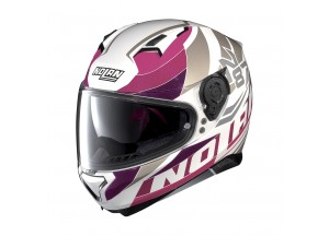 Casco Integral Nolan N87 Plein Air 47 Metal Blanco