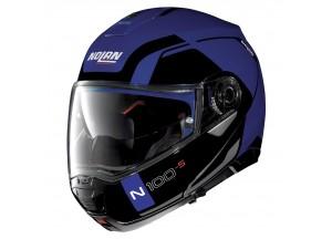 Casco Integral Abierto Nolan N100.5 Consistency 24 Flat Cayman Azul
