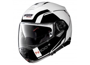 Casco Integral Abierto Nolan N100.5 Consistency 19 Metal Blanco