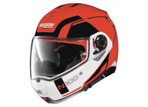 Casco Integral Abierto Nolan N100.5 Consistency 23 Corsa Rojo