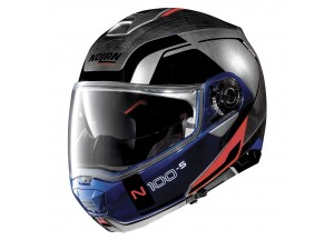 Casco Integral Abierto Nolan N100.5 Consistency 29 Cromo Rayado