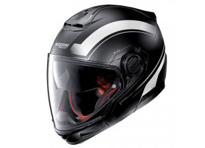 Casco Integral Crossover Nolan N40-5 GT Resolute 20 Negro Mate Blanco