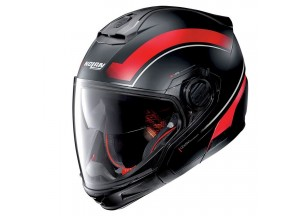 Casco Integral Crossover Nolan N40-5 GT Resolute 21 Negro Mate Rojo