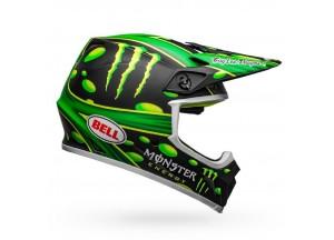Casco Bell Off-Road Motocross Mx-9 Mips Mcgrath Replica Negro Mate Verde