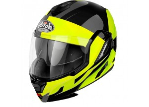 Casco Integral Abierto Airoh Rev Fusion Amarillo Brillante