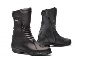 Zapatos Moto Forma Touring Cuero Impermeable Lady ROSE HDRY Negro