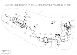 S-S10R10-RC/1 - Escape Completo Akrapovic Racing Line Suzuki GSX-R 1000 12-14