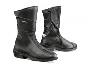 Zapatos Moto Forma Touring Cuero Impermeable Lady Simo Negro