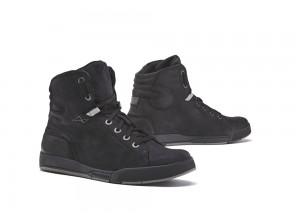 Zapatos Moto Forma Urbana Cuero Impermeable Swift Dry Negro Negro
