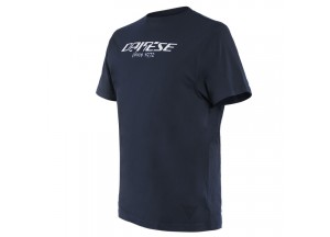 Dainese T-SHIRT PADDOCK LONG Black-Iris/Blanco