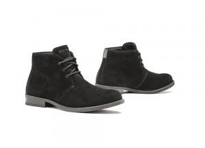 Zapatos Moto Forma Urbana Cuero Impermeable Venue Negro